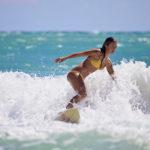 Surfing in jaco, playa hermosa